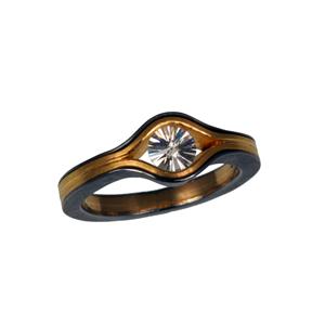 Ring Tantal Feingold und Spiritdiamond