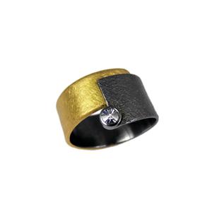 Ring Tantal Gold 900/- und Spiritdiamond