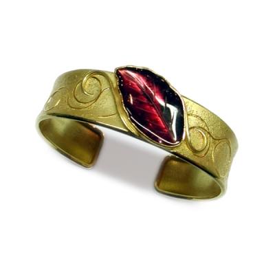 Armband Gold 750 mit Gold 900, Feingold Beschweißung und rotem Turmalin
